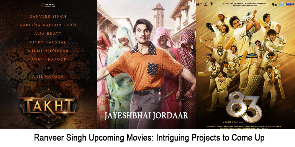 Ranveer Singh upcoming movies: Intriguing projects to come up