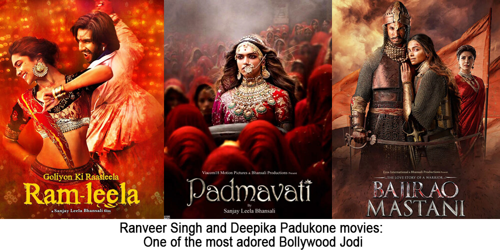 Ranveer Singh and Deepika Padukone movies: One of the most adored Bollywood Jodi