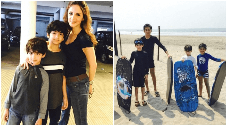 Hrithik Roshan writes a heartfelt post for Sussanne and his kids