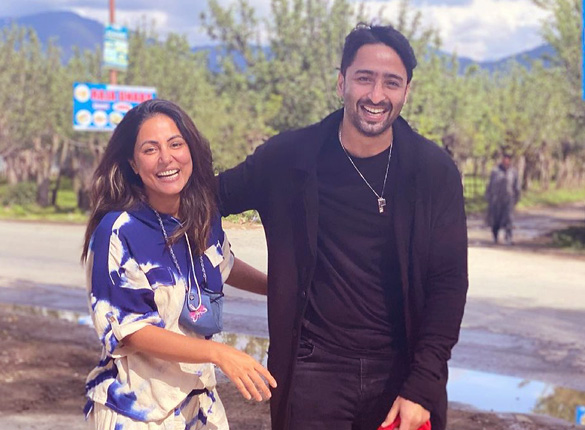 Hina Khan and Shaheer Sheikh share a picture together and tease a 'surprise' for the fans