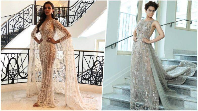 Kangana and Deepika awe at Cannes film festival in Zuhair's work!