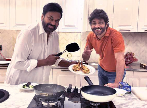 Nagarjuna Akkineni star Wild Dog is about to release and Chiranjeevi cooks him a dinner to help him relax